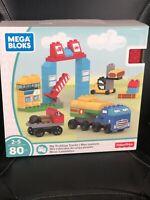 Fisher Price Mega Bloks My Trekking Trucks Building Blocks Set 80 Pieces - New!!