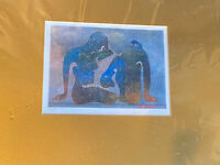 BOB SCHINDLER ART ABSTRACT PRINT SIGNED AND NUMBERED