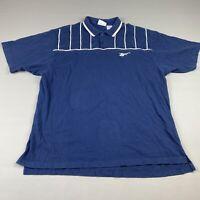 Vintage 90's Reebok Polo Size XL Men's Blue White Stripes Collared