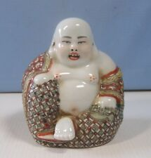 Vintage hand crafted porcelain Buddha statue retired signed circa mid century