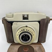 Vintage ILFORD SPORTI 4 Camera Includes Original Leather Case **Untested**