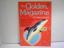 Vintage Golden Magazine for Children February 1966 Issue Original Paper Dolls