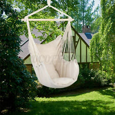 Hammock Swing Chair Hanging Rope Seat Net Chair Tree Outdoor Porch Patio