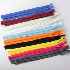 """50PCS Assorted Colorful Coil Closed Clothes Tailor Sewing Craft Nylon Zippers 7"""""""