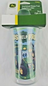 The First Years John Deere Insulated Sippy Cup 9 Oz Baby Cup Tractor Combine