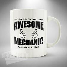 Awesome Mechanic Mug Cup Coffee Tea Funny Lorry Car Scania V8 Technician Garage