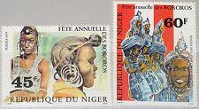 NIGER 1979 671-72 482-83 Annual Bororo Festival Tänzerinnen Dancer Music MNH