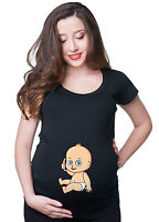 Baby With Smartphone Phone Funny Pregnancy maternity T-shirt Gift Pregnancy Tee