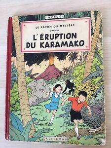 Album Herge (tintin) Jo, Zette et jocko L'eruption du karamako EO 1952 B6 TBE