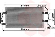 Kondensator, Klimaanlage für Klimaanlage VAN WEZEL 43005451
