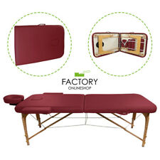 Portable Folding Massage Table Bed Spa Salon Facial Tattoo Physical Burgundy