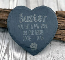 Personalised Pet Dog Heart Slate Gravestone Dogs Memorial Plaque Grave Marker