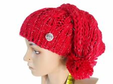Cappello donna acrilico modello rasta con pon pon GIAN MARCO VENTURI 75534  Rosso 0c7fe9254f95
