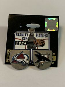 COLORADO AVALANCHE SAN JOSE SHARKS STANLEY CUP PLAYOFFS PIN NHL LICENSED HOCKEY