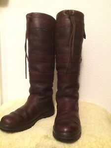 DUBARRY GALWAY BROWN WALNUT WATERPROOF LEATHER GORTEX BOOTS UK5.5 EU39