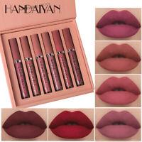 6Pcs/set Beauty Glazed Long Lasting LipGloss Matte Liquid Lipstick Lip Makeup A+