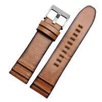 New 24mm Vintage Italian Brown leather watch strap For DZT2002 DZ7333 DZ4343