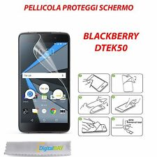 3X PELLICOLA PROTEGGI DISPLAY SCHERMO CLEAR TRASPARENTE PER BLACKBERRY DTEK50