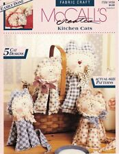 McCall's Fabric Craft Easily Done Kitchen Cats 5 Cat Designs 14159 Hand Stitched