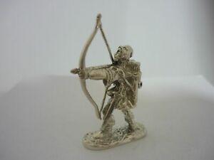Stunning Rare Vintage Sterling Silver Robin Hood Figurine Statue
