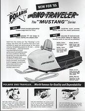 1965 POLARIS SNOWMOBILE  SNO-TRAVELER MUSTANG SALES BROCHURE COPY (789)