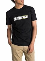 QUIKSILVER MENS T SHIRT.DAILY SURF BLACK COTTON SHORT SLEEVED TOP TEE 7W 29 KVJO