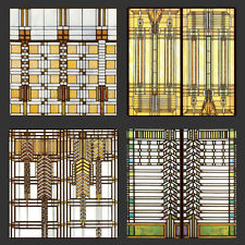 Frank Lloyd Wright Design for Glass Designs Coasters Set of 4 - WUAS2745