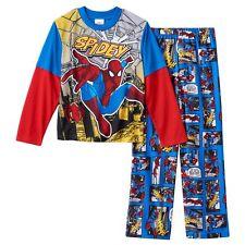 Marvel Spider-Man 2-Piece Pajama Set Size 8 NWT $34 Retail Value NWT