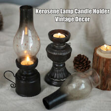 French Vintage Style Small Candle holder Nostalgic Kerosene Lamp Antique Blac