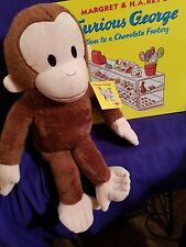 Kohls Cares Plush Curious George and Book Curious George Goes to a Chocolate Fac