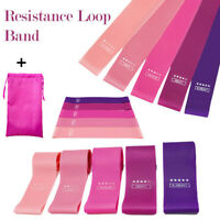 Resistance Bands Loop Set of 5 For Exercise Glute yoga Spots Fitness Gym Home