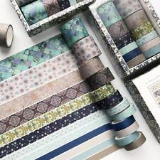 12 Rolls Washi Tape Decorative Scrapbooking Paper Adhesive Sticker Craft Set