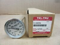 "1 NIB TEL-TRU LN250 BIMETALLIC SS THERMOMETER STEM 9"" RANGE 0/200F (7 AVAILABLE)"