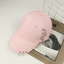 Rock Gothic Hip Hop Hood Ring Fashion Men Lady Baseball Cap Hat Metal Chain Punk