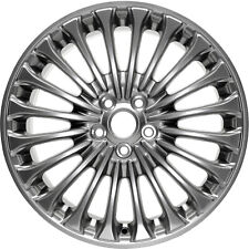 New 18X8 Alloy Wheel 20 Spokes Charcoal Metallic with a Polished Face