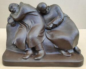 """Ernst Barlach (1870 Wedel – 1938 Rostock) """"Schlafendes Bauernpaar"""" Entwurf 1912"""
