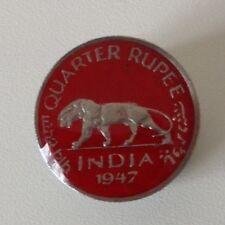 1947 Enamelled India Quarter Rupee Coin Golf Ball Marker. 70th B'day. Handmade