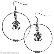 New York Yankees Hoop Earrings