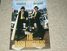 "MARK MCGWIRE/JOSE CANSECO OAKLAND A'S ""BASH BROTHERS"" 20X30 POSTER PRINT"