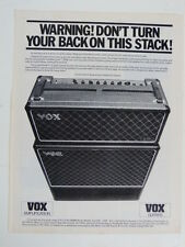 vintage magazine advert 1982 VOX amplifiers / guitars