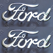 FORD Script Emblems Chrome Metal Emblem Hot Rod Pickup Truck Deuce Coupe Cruiser
