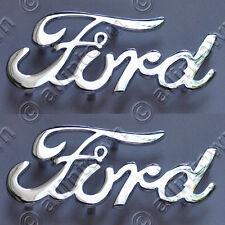 FORD Script Emblems Chrome Metal Emblem Hot Rod Pickup Truck Deuce Coupe Cruiser