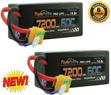 PowerHobby 4S 14.8V 7200mAh 60C-120C Lipo Battery XT90 Plug 4-Cell Hard Case (2)
