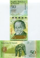 Venezuela P92 2015 50 Bolivares UNC Banknote Money - Sequentially Numbered Notes