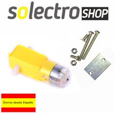 Motor 5V corriente continua con reductora y soporte Robot Coche Arduino R0041