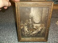 Antique Hidden Money Frame Bank Victorian 1700's picture Mirror