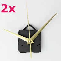 2Set Gold Hands DIY Quartz Clock Spindle Movement Mechanism Repair Tool Kit Gift