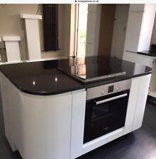 Granite Jet Black polished kitchen work tops supply & fit complete price inc VAT