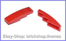Lego 2 x Dachstein Bogen rot (4 x 1) - 61678 - Slope Red - NEU / NEW