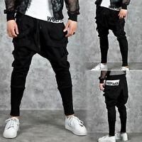 Men's Sweatpants Casual Jogger Dance Sportwear Baggy Harem Pants Slacks Trousers